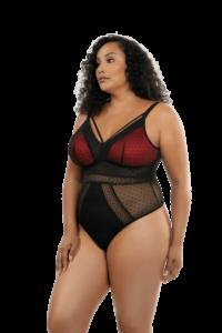 Mia Dot Bodysuit (Black)-2