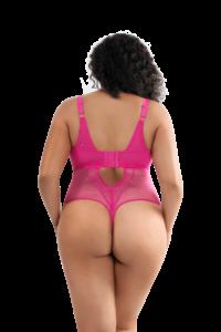 Mia Dot Bodysuit (Bright Pink)-3