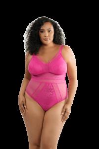 Mia Dot Bodysuit (Bright Pink)-1