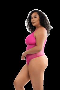 Mia Dot Bodysuit (Bright Pink)-2