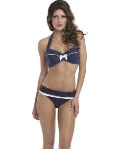 Panache Britt Bandeau bikini top (Black)-10